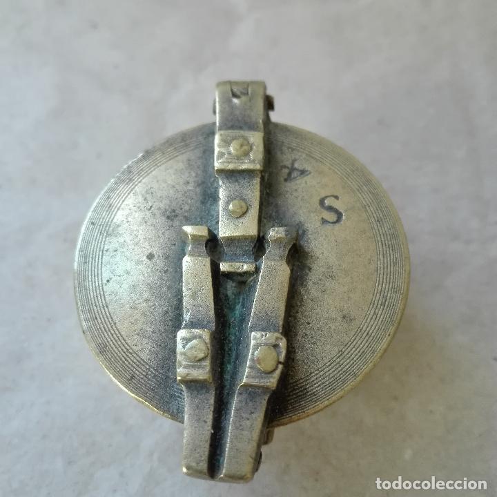 Antigüedades: PONDERALES CON VASOS ANIDADOS DE BRONCE MUY ANTIGUOS - Foto 4 - 79804845