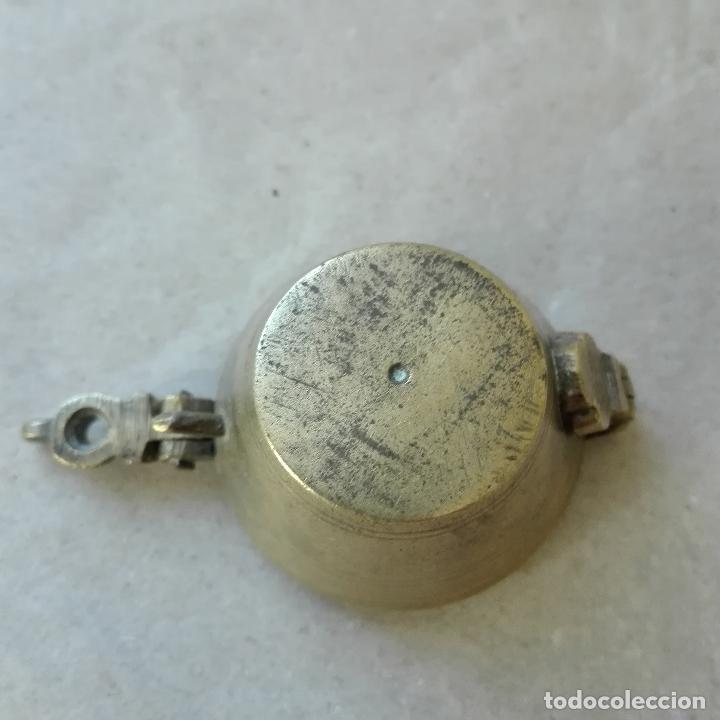 Antigüedades: PONDERALES CON VASOS ANIDADOS DE BRONCE MUY ANTIGUOS - Foto 5 - 79804845