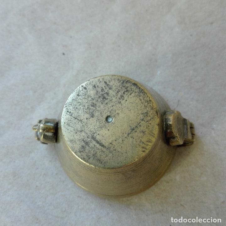 Antigüedades: PONDERALES CON VASOS ANIDADOS DE BRONCE MUY ANTIGUOS - Foto 6 - 79804845