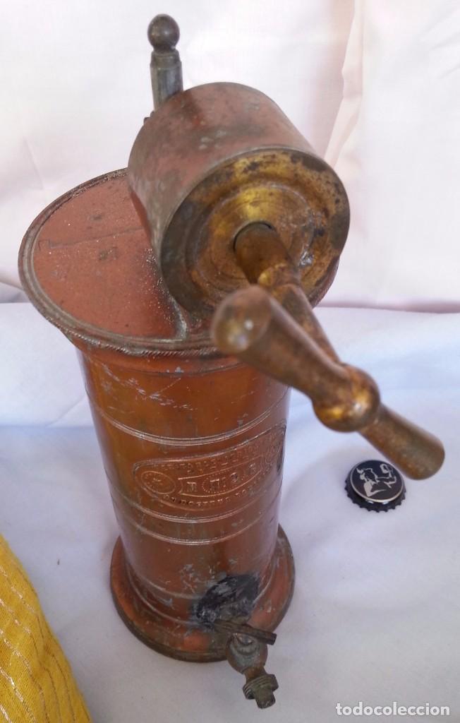 Antigüedades: IRRIGADOR ANTIGUO PRINCIPIOS 1.900 EN COBRE. ORIGEN FRANCÉS. ANCIENT IRRIGATOR PRINCIPLES 1.900 - Foto 2 - 91704325