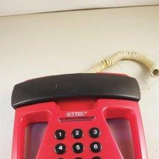 Teléfonos: TELÉFONO FIJO ROJO CON BONITO DISEÑO. NO FUNCIONA. Lote 91712120