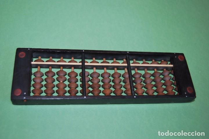 Antigüedades: ÁBACO JAPONÉS - SOROBAN - MADERA Y BAQUELITA - JAPÓN - AÑOS 20-30 - Foto 6 - 91917645