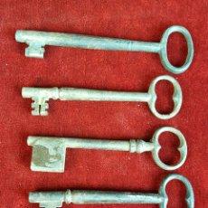 Antigüedades: COLECCIÓN DE 5 LLAVES ANTIGUAS. HIERRO COLADO. SIGLO XIX-XX. . Lote 91987140