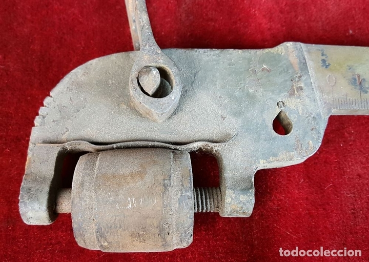 Antigüedades: ROMANA DE HIERRO Y BRONCE. HIJOS DE J. FORM. BARCELONA.KOS FABRICA. SIGLO XIX-XX. - Foto 3 - 92006925