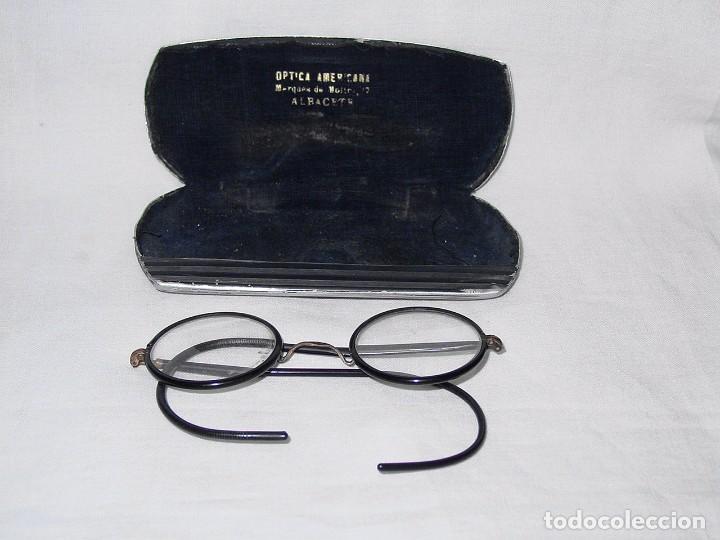 GAFAS CON FUNDA. PRINCIPIOS 1900 (Antigüedades - Técnicas - Instrumentos Ópticos - Gafas Antiguas)