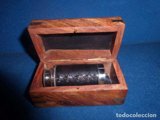 Antigüedades: CATALEJO PLEGABLE CON CAJA DE MADERA - Foto 2 - 92142210