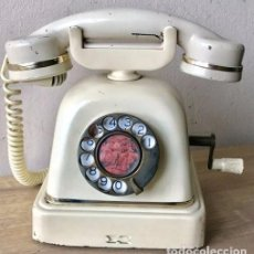 Teléfonos: TELÉFONO ANTIGUO. CON MANIVELA. AÑOS 40. HOLANDÉS. ANTIQUE PHONE.. Lote 92174440