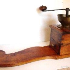 Antigüedades: GRAN MOLINILLO DE MADERA DE NOGAL CON TABLA DE ESTABILIZACIÓN. ALEMANIA/HUNGRÍA. CA.1875/1900. Lote 83991240