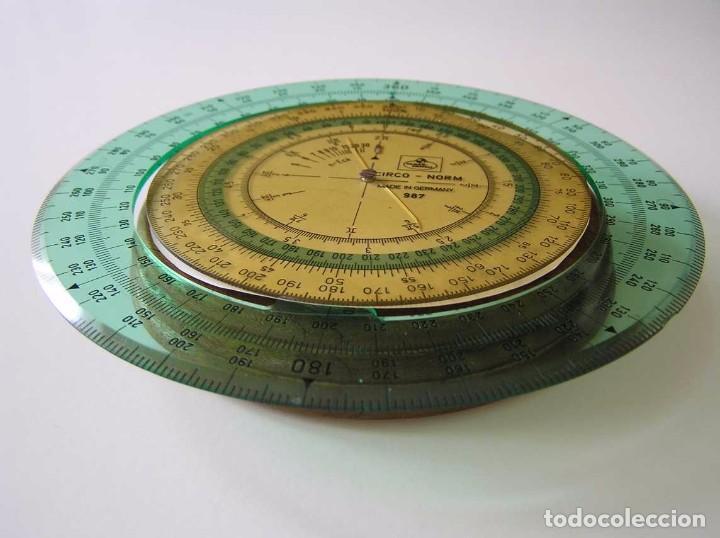 Antigüedades: CIRCO NORM 987 989N CIRCULO GRADUADO FABER CASTELL - REGLA DE CALCULO SLIDE RULE RECHENSCHIEBER - Foto 3 - 92346150