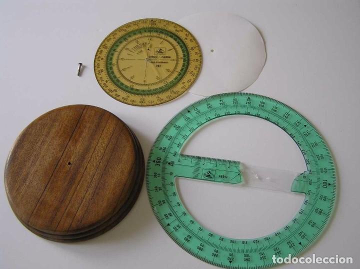 Antigüedades: CIRCO NORM 987 989N CIRCULO GRADUADO FABER CASTELL - REGLA DE CALCULO SLIDE RULE RECHENSCHIEBER - Foto 7 - 92346150