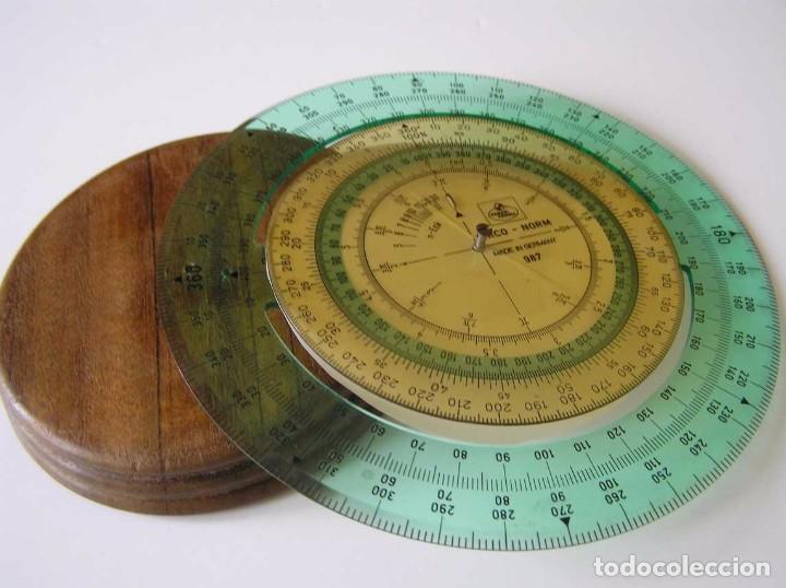 Antigüedades: CIRCO NORM 987 989N CIRCULO GRADUADO FABER CASTELL - REGLA DE CALCULO SLIDE RULE RECHENSCHIEBER - Foto 9 - 92346150
