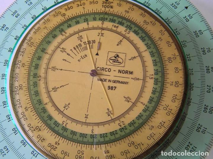 Antigüedades: CIRCO NORM 987 989N CIRCULO GRADUADO FABER CASTELL - REGLA DE CALCULO SLIDE RULE RECHENSCHIEBER - Foto 12 - 92346150