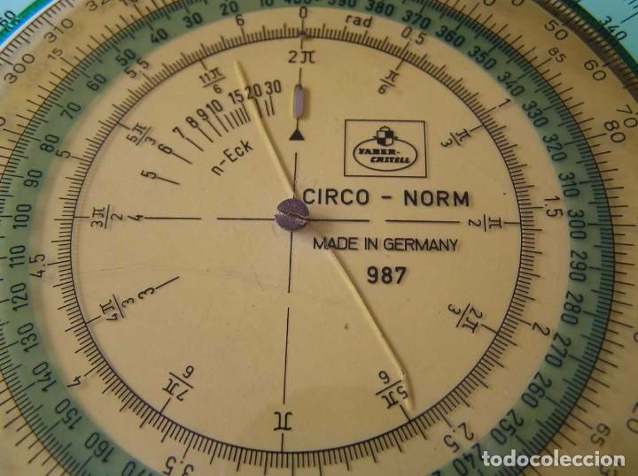 Antigüedades: CIRCO NORM 987 989N CIRCULO GRADUADO FABER CASTELL - REGLA DE CALCULO SLIDE RULE RECHENSCHIEBER - Foto 16 - 92346150