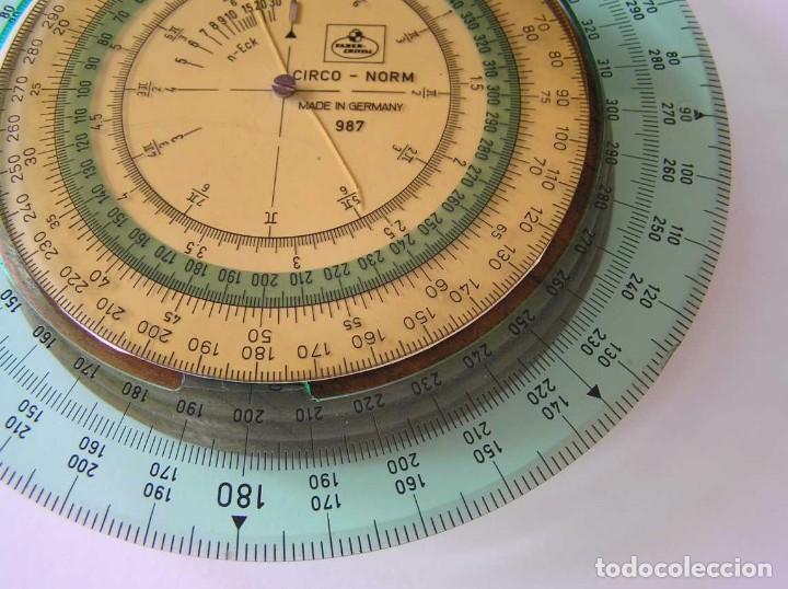 Antigüedades: CIRCO NORM 987 989N CIRCULO GRADUADO FABER CASTELL - REGLA DE CALCULO SLIDE RULE RECHENSCHIEBER - Foto 18 - 92346150