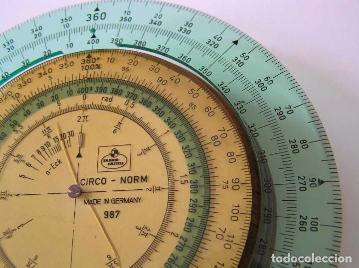 Antigüedades: CIRCO NORM 987 989N CIRCULO GRADUADO FABER CASTELL - REGLA DE CALCULO SLIDE RULE RECHENSCHIEBER - Foto 19 - 92346150