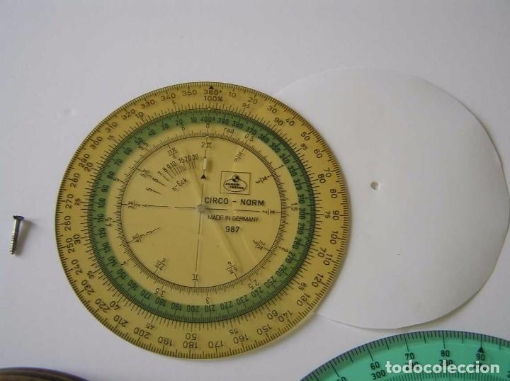 Antigüedades: CIRCO NORM 987 989N CIRCULO GRADUADO FABER CASTELL - REGLA DE CALCULO SLIDE RULE RECHENSCHIEBER - Foto 24 - 92346150