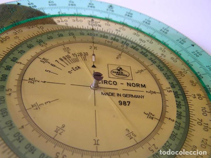 Antigüedades: CIRCO NORM 987 989N CIRCULO GRADUADO FABER CASTELL - REGLA DE CALCULO SLIDE RULE RECHENSCHIEBER - Foto 37 - 92346150