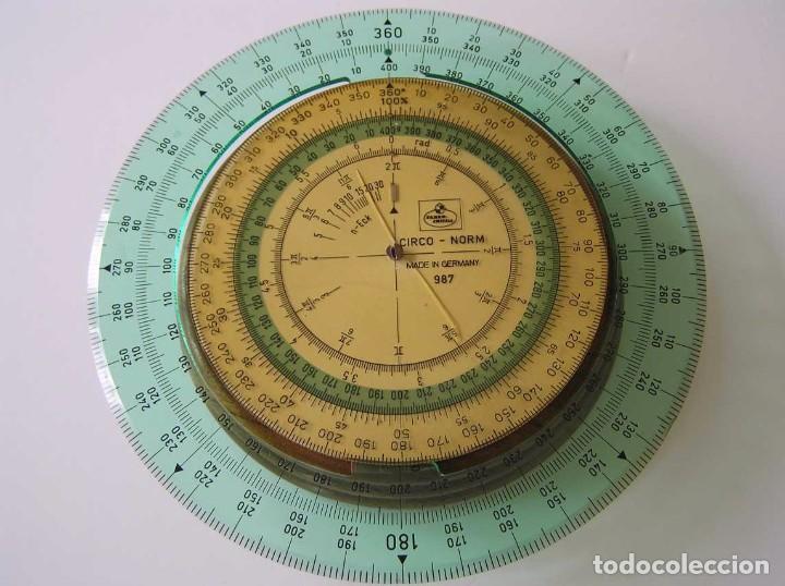 Antigüedades: CIRCO NORM 987 989N CIRCULO GRADUADO FABER CASTELL - REGLA DE CALCULO SLIDE RULE RECHENSCHIEBER - Foto 38 - 92346150