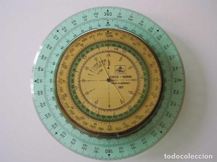Antigüedades: CIRCO NORM 987 989N CIRCULO GRADUADO FABER CASTELL - REGLA DE CALCULO SLIDE RULE RECHENSCHIEBER - Foto 43 - 92346150