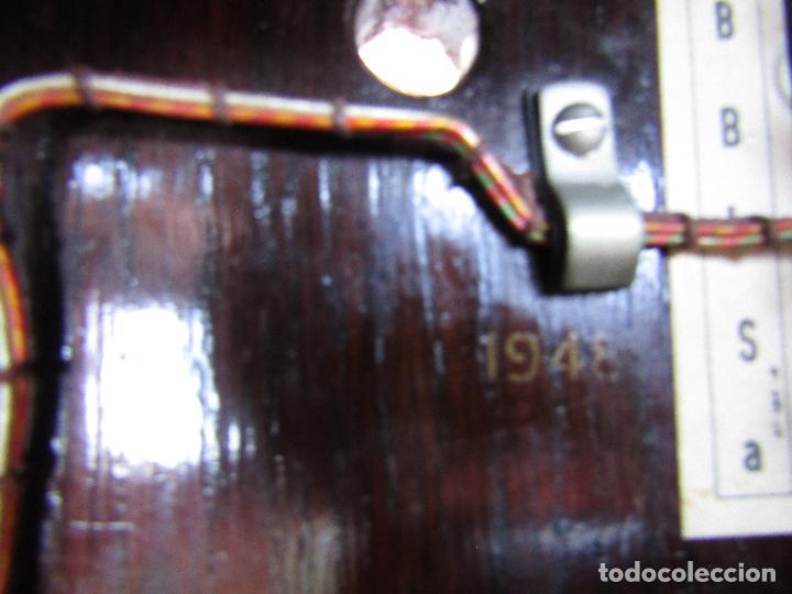 Teléfonos: ANTIGUO TELEFONO BELGA DE MADERA Y BAQUELITA, FABRICADO EN 1948, BUENA CONSERVACION. - Foto 7 - 185740775