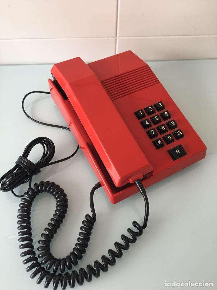 TELÉFONO TEIDE ROJO - VINTAGE ORIGINAL AÑOS 80 (Antigüedades - Técnicas - Teléfonos Antiguos)