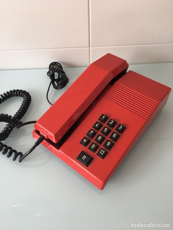 Teléfonos: TELÉFONO TEIDE ROJO - VINTAGE ORIGINAL AÑOS 80 - Foto 2 - 261298380