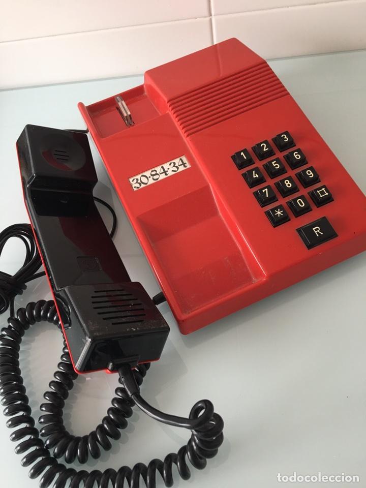 Teléfonos: TELÉFONO TEIDE ROJO - VINTAGE ORIGINAL AÑOS 80 - Foto 3 - 261298380