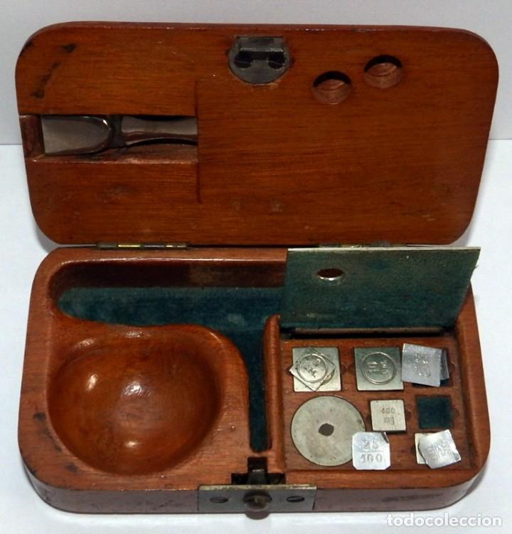 Antigüedades: ANTIGUA BALANZA DE PRECISIÓN PARA PESAR ORO - Foto 2 - 92812150