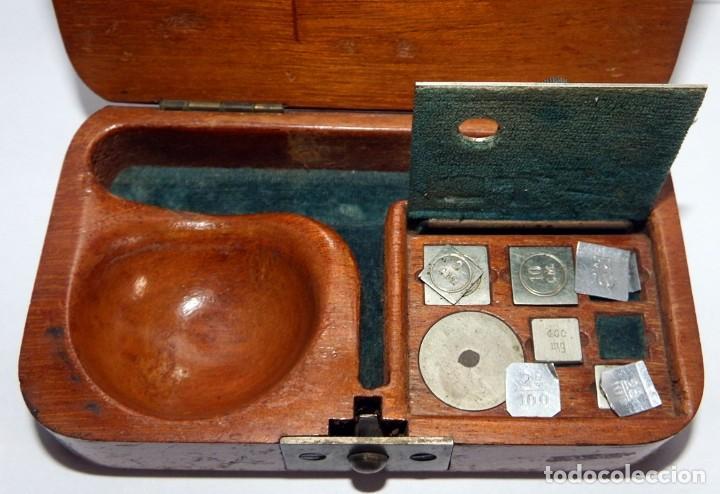 Antigüedades: ANTIGUA BALANZA DE PRECISIÓN PARA PESAR ORO - Foto 3 - 92812150