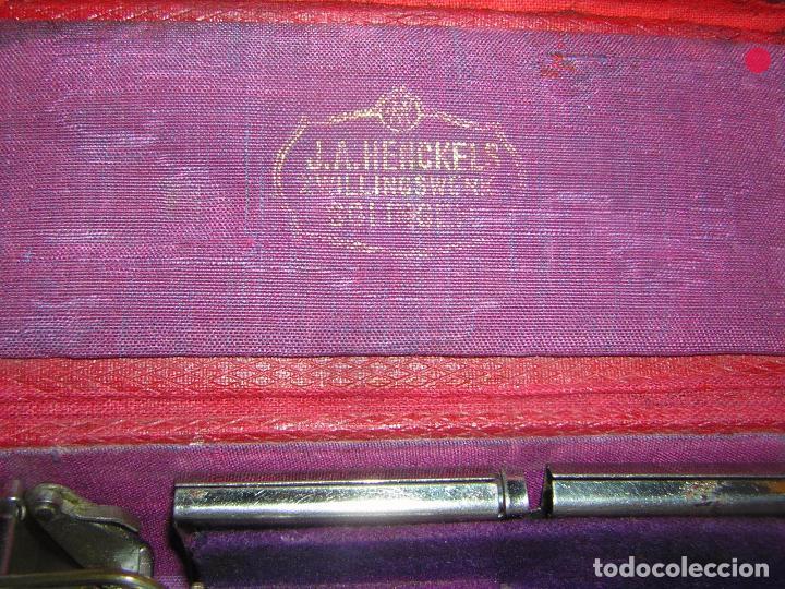 Antigüedades: MAQUINILLA DE AFEITAR MUY ANTIGUA, J. A. HENCKELS - Foto 8 - 92823155