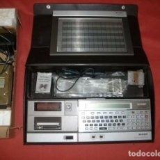 Antigüedades: ORDENADOR ANTIGUO SHARP PC 1500 CON MALETÍN Y ACCESORIOS. Lote 92834910