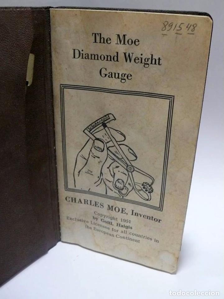 Antigüedades: Charles Moe- Diamond weight gauge - calibrador de diamantes- Ca.1950 - Foto 3 - 92944650