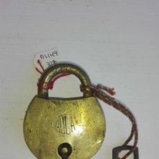 Antigüedades: ANTIGUO CANDADO DE ORIGEN INDIO. Lote 92969080