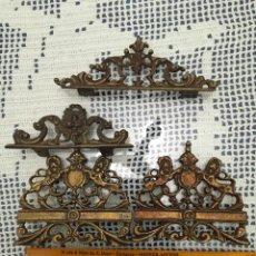 Antigüedades: CUATRO APLIQUES ANTIGUOS . Lote 92993200