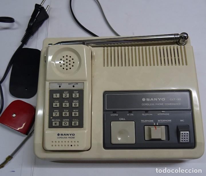 TELEFONO INALAMBRICO SANYO CLT 30 TELEPHONE INTERPHONE (Antigüedades - Técnicas - Teléfonos Antiguos)