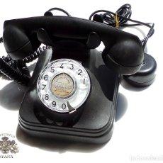 Teléfonos: ANTIGUO TELÉFONO DE MESA EN BAQUELITA NEGRA PERFECTO ESTADO FUNCIONANDO - EXCELENTE CONSERVACIÓN. Lote 93082095