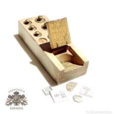 Antigüedades: PONDERALES, JUEGO DE PESAS . Lote 93104435