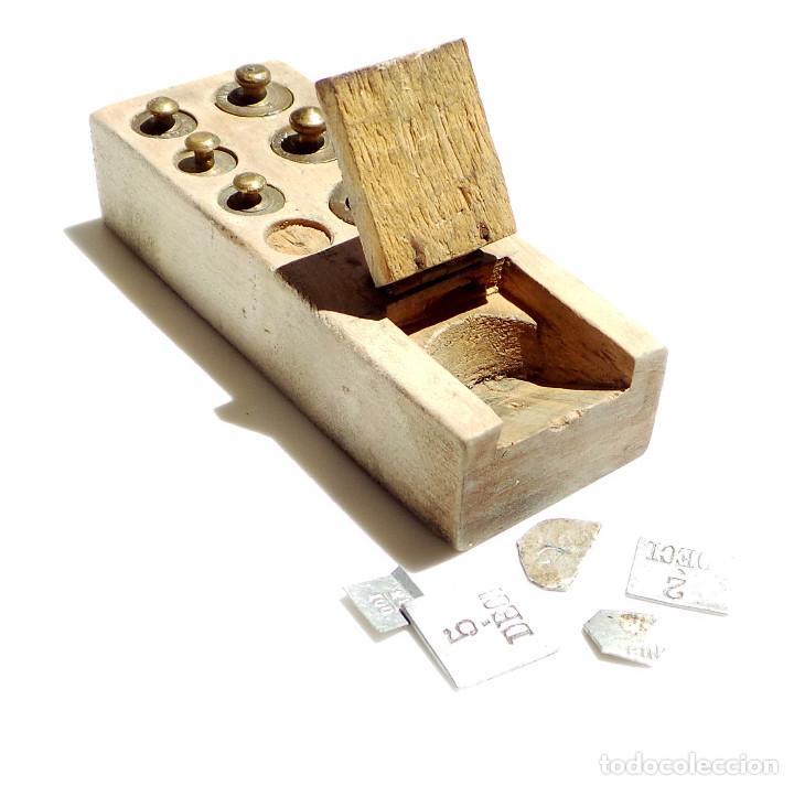 Antigüedades: PONDERALES, JUEGO DE PESAS - Foto 9 - 93104435