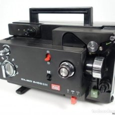 Antigüedades: VINTAGE ELMO K-100SM 8MM FILM PROJECTOR. Lote 93151460