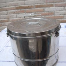 Antigüedades: CUBO SANITARIO EN ACERO INOXIDABLE.. Lote 93304640
