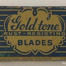 Antigüedades: GOLD TONE (GOLDTONE) - BLADES - ESTUCHE CON 4 HOJAS DE AFEITAR. Lote 93383995