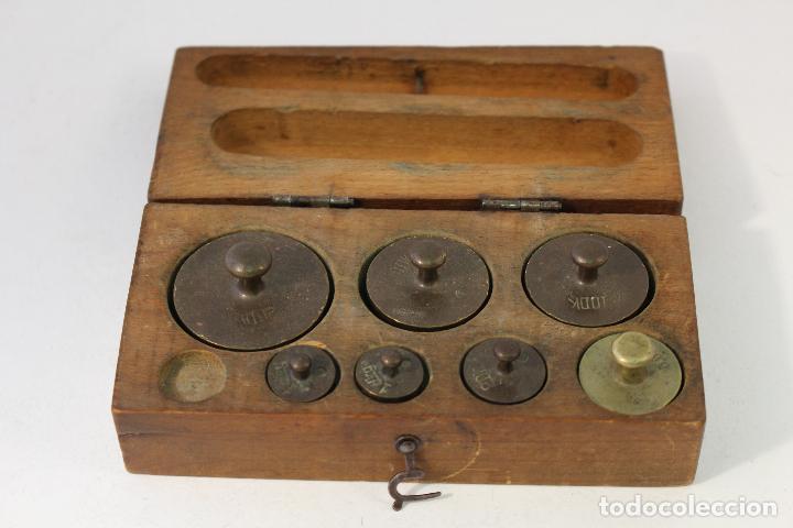 Antigüedades: juego de 7 pesas - ponderales en bronce pesas en bronce grabadas - Foto 7 - 95722638