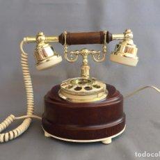 Teléfonos: TELEFONO DE DISCO VINTAGE TELART S.P.A. VIAREGGIO ITALIA AÑOS 80 METAL MADERA PLASTICO - FUNCIONA. Lote 93705520