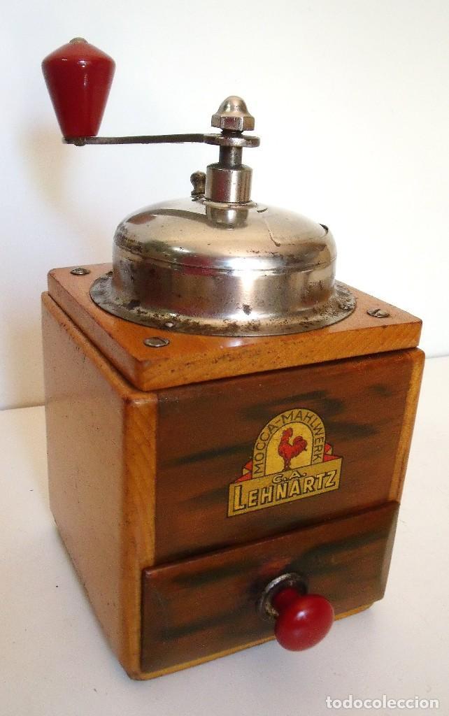 MOLINILLO DE CAFÉ MARCA LEHNARTZ. MODELO 140. ALEMANIA. CA. 1950/60 (Antigüedades - Técnicas - Molinillos de Café Antiguos)