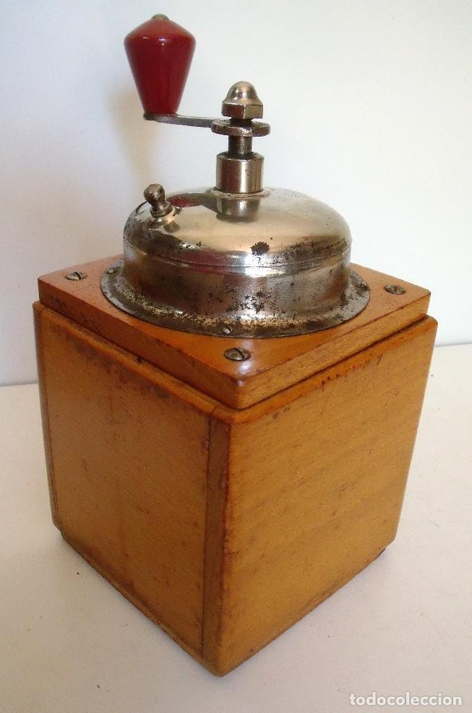 Antigüedades: MOLINILLO DE CAFÉ MARCA LEHNARTZ. MODELO 140. ALEMANIA. CA. 1950/60 - Foto 4 - 93714545