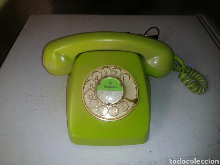 ANTIGUO TELEFONO DE TELEFÓNICA ,PINTADO (Antigüedades - Técnicas - Teléfonos Antiguos)