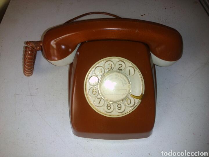 ANTIGUO TELÉFONO DE TELEFÓNICA,PINTADO (Antigüedades - Técnicas - Teléfonos Antiguos)