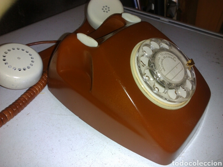 Teléfonos: Antiguo Teléfono de Telefónica,Pintado - Foto 6 - 93874148