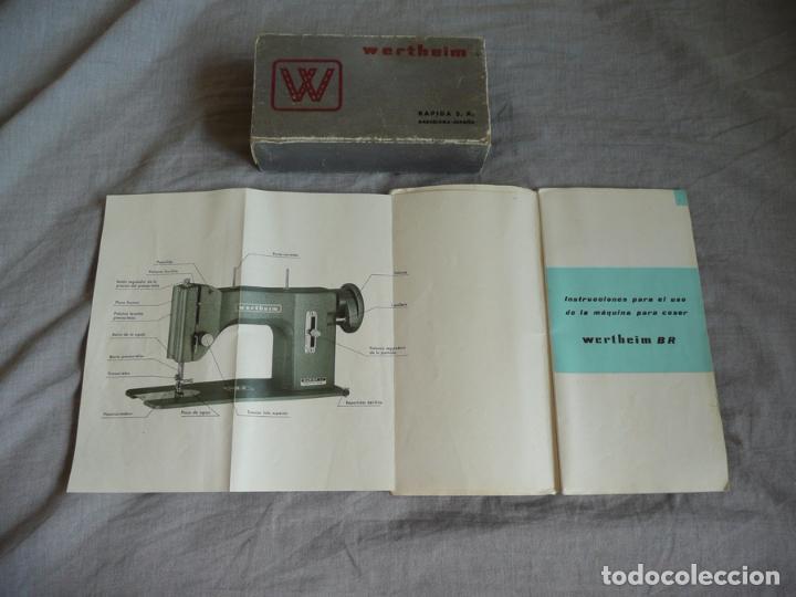 Antigüedades: MÁQUINA DE COSER WERTHEIM BR COMPLETA MUY BUEN ESTADO - Foto 13 - 94067845