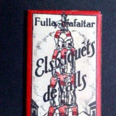 Antigüedades: HOJA DE AFEITAR//FULLA D'AFAITAR ANTIGUA-ELS XIQUETS DE VALLS-VINTAGE. Lote 94127850